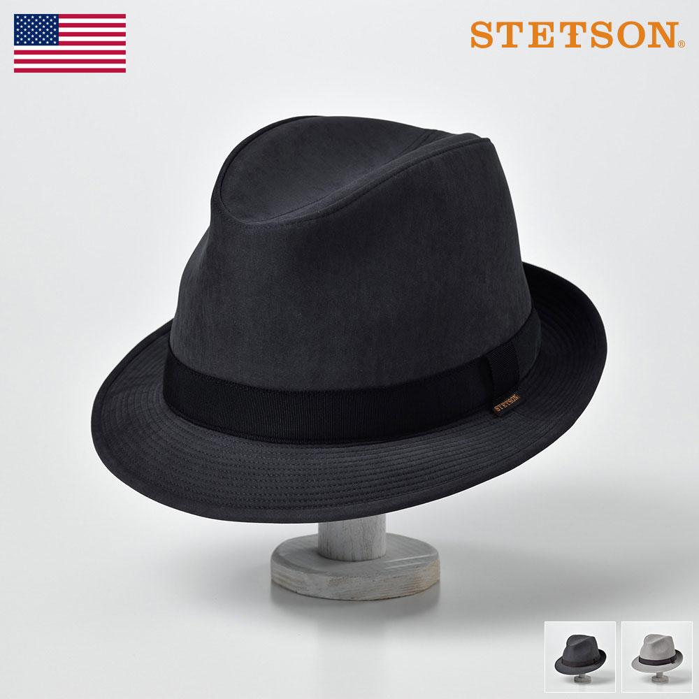STETSON ステットソン ソフトハット メンズ 春夏 中折れ帽子 中折れハット 紳士帽 サイズ調節 撥水 ブラック グレー チャコールグレー 送料無料 あす楽 ギフト プレゼント クラッシャブル撥水ハット SE489