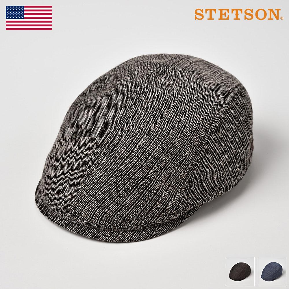 【10%OFFクーポン配布中】ハンチング メンズ 春夏 ハンチング帽子 大きいサイズ メッシュ素材 サイズ調整 キャップ レディース ネイビー ブルー アメリカブランド STETSON(ステットソン) カラミハンチングSE531 送料無料 あす楽