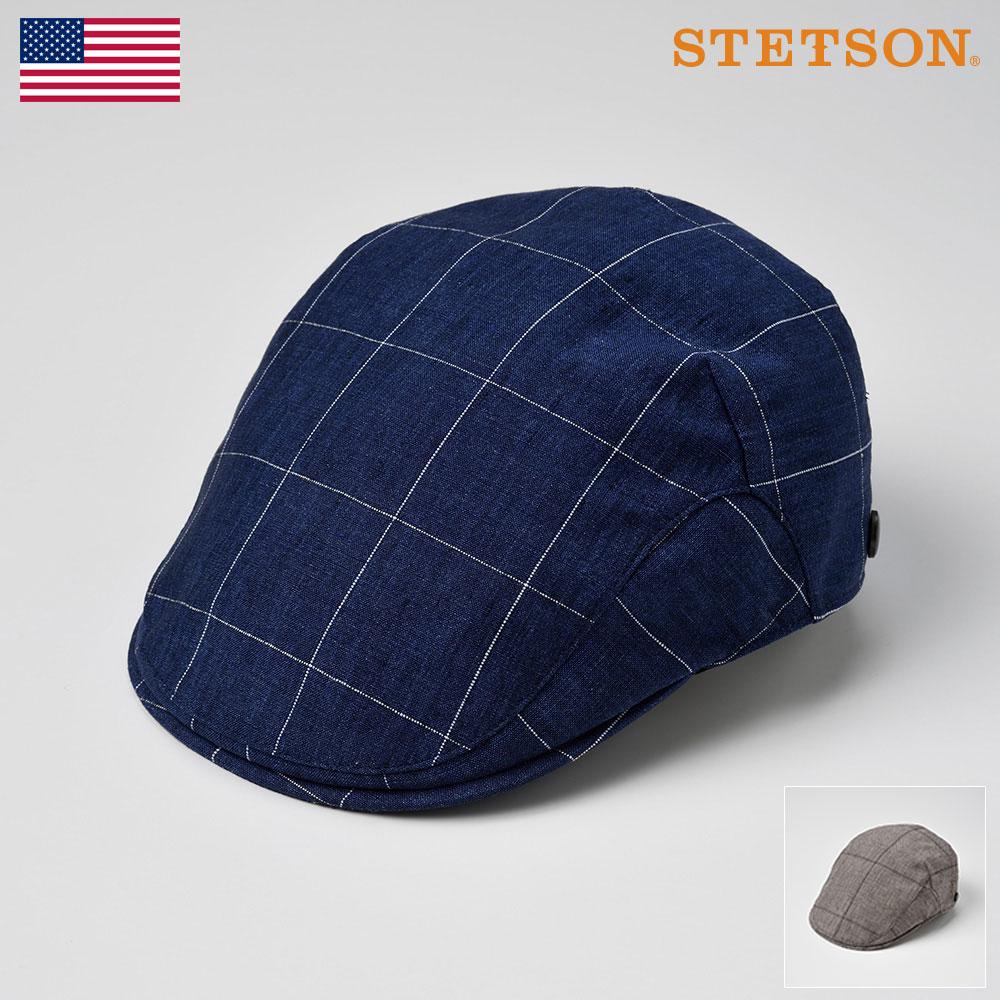 STETSON ステットソン ハンチング メンズ レディース ハンチング帽 キャップ 帽子 紳士 リネン 大きいサイズ 春 夏 春夏 ネイビー ブラウン L LL 3L [リネンハンチングSE449] メンズ帽子 ギフト プレゼント あす楽 送料無料
