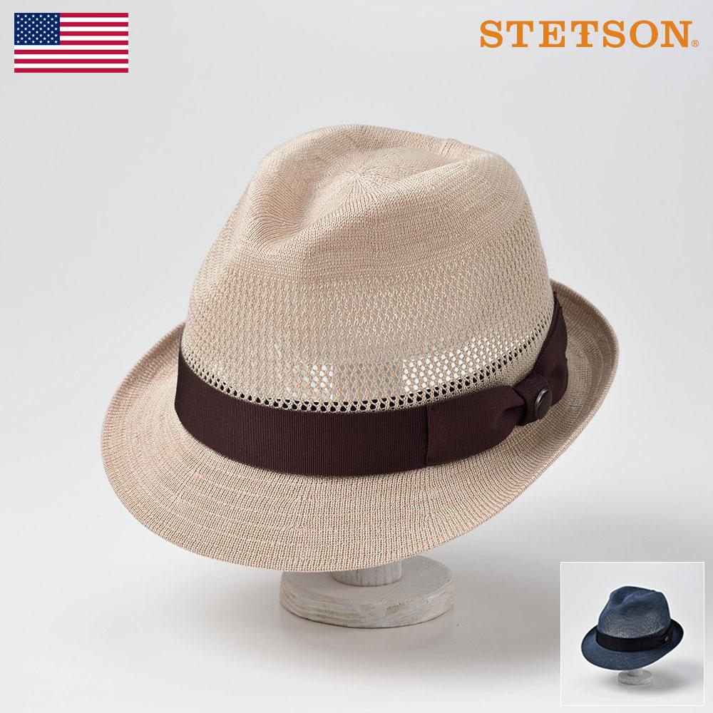 STETSON ステットソン ソフトハット メンズ レディース ソフト帽 マニッシュハット 中折れハット ハット 帽子 紳士 大きいサイズ 春夏 ベージュ ネイビー M L LL [シルクサーモハットSE454] メンズ帽子 送料無料 あす楽 送料無料