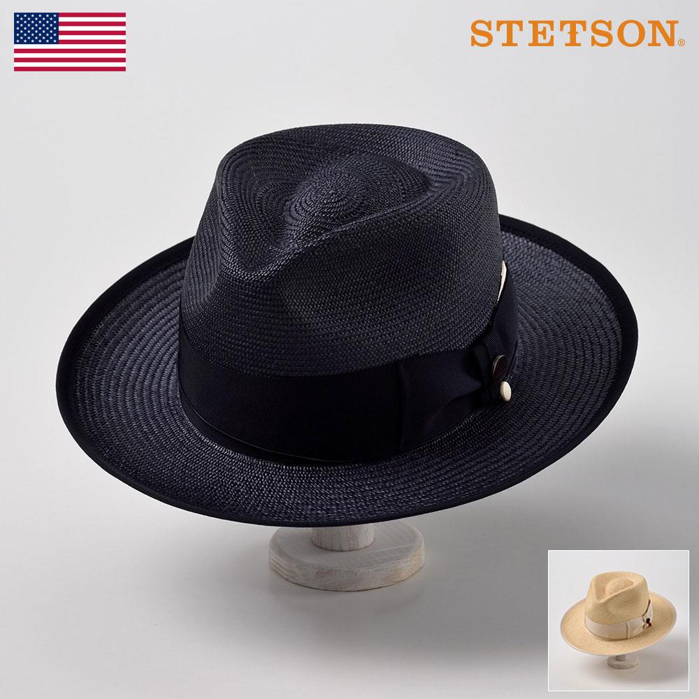 【10%OFFクーポン配布中】ステットソン STETSON メンズ レディース パナマハット パナマ帽 中折れハット ハット 帽子 紳士 大きいサイズ 春夏 ネイビー ナチュラル 58cm [G6パナマハットSE464] プレゼント 送料無料 あす楽