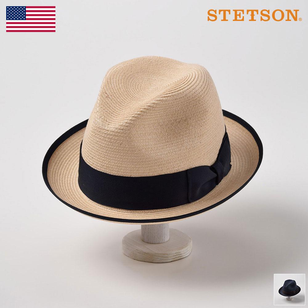 STETSON ステットソン ストローハット メンズ レディース ブレードハット 中折れハット ハット 帽子 紳士 大きいサイズ 春夏 ナチュラル ネイビー 58cm 59cm 60cm 61cm [バイスロイST145] メンズ帽子 あす楽 送料無料
