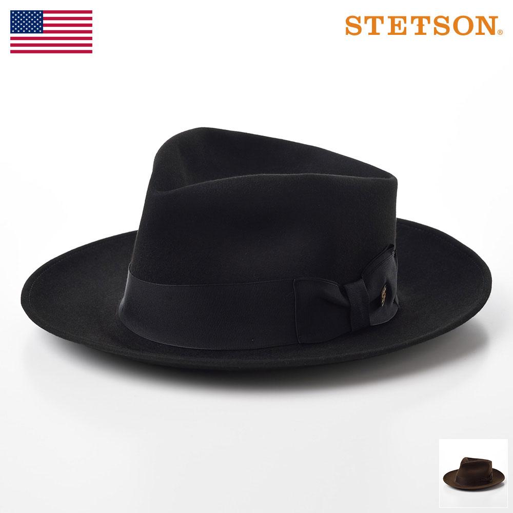 STETSON ステットソン ビーバーフェルトハット メンズ レディース 中折れハット 自由変形 ハット 帽子 紳士 大きいサイズ 秋 冬 ブラック ブラウン グレー 57 58 59 [ニューヨークST120] メンズ帽子 送料無料 あす楽 送料無料