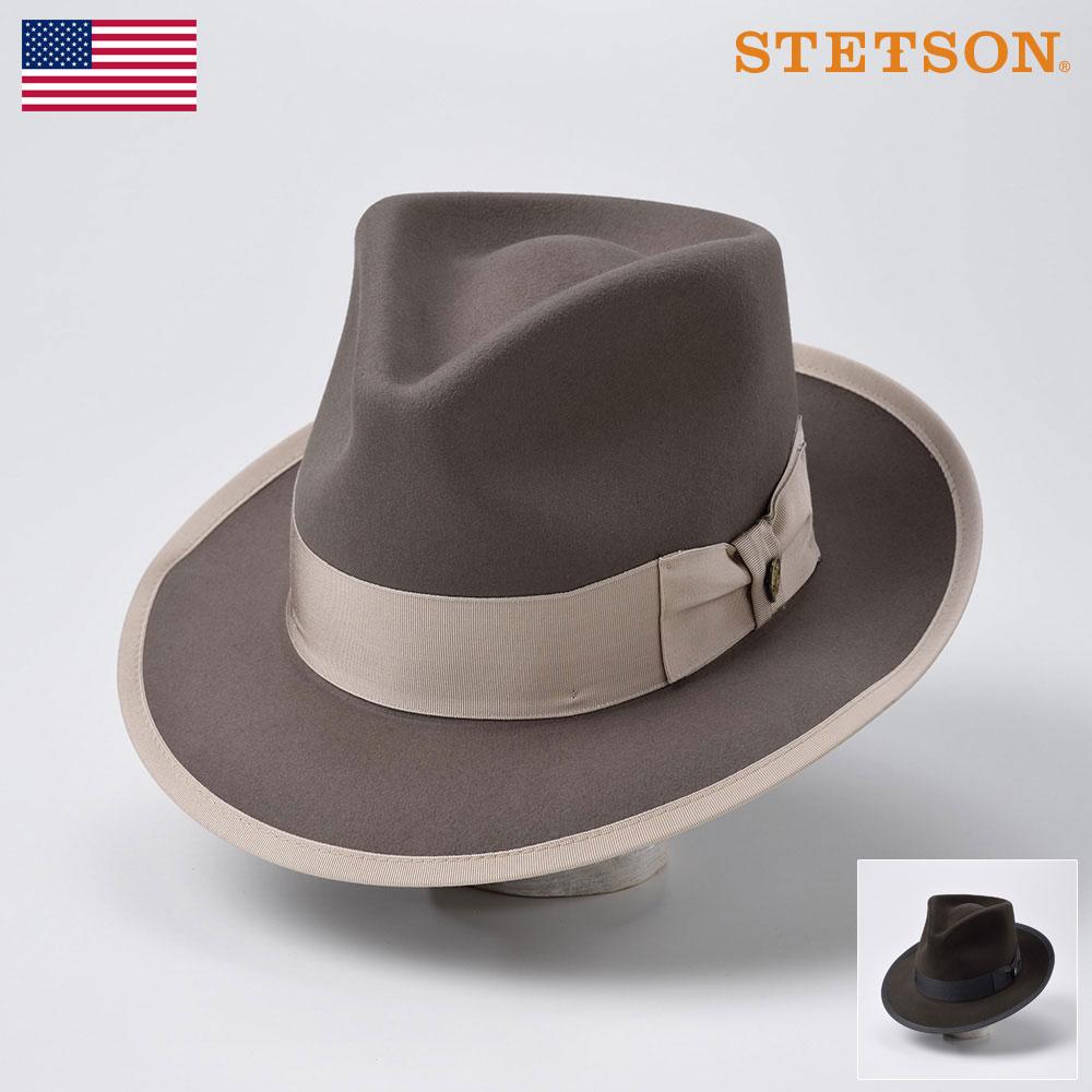 ステットソン STETSON メンズ レディース ビーバーフェルトハット 中折れハット ハット 帽子 紳士 大きいサイズ 秋 冬 ブラック グレー 57 58 59 [ビンテージウィペットビーバー ST136] メンズ帽子 送料無料 あす楽 送料無料
