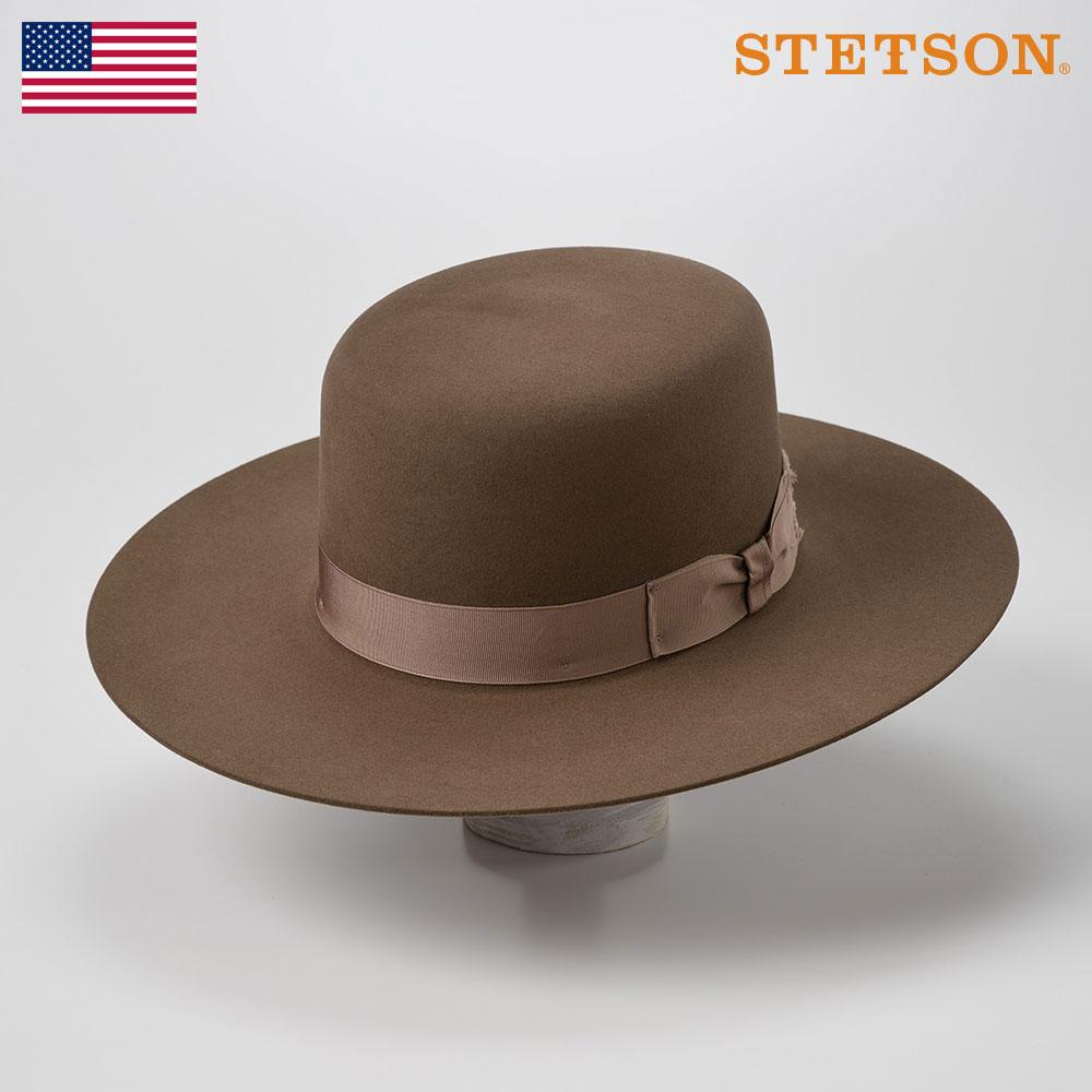 STETSON ステットソン ラビットファーフェルトハット メンズ レディース 中折れハット フェドラハット ハット 帽子 紳士 秋冬 58 60cm ブラウン [ボス オブ ザ プレインズ ST200] 紳士帽 メンズ帽子 あす楽 送料無料