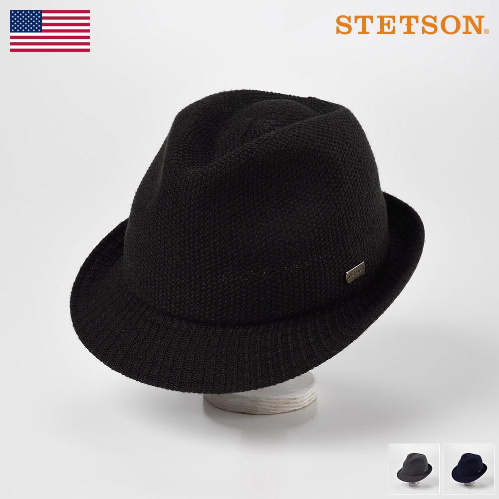 STETSON ステットソン メンズ レディース ソフトハット ソフト帽 中折れハット サーモハット ハット 帽子 紳士 大きいサイズ 秋 冬 秋冬 ブラック ネイビー グレー M L LL [サーモハットSE149] メンズ帽子 送料無料 あす楽