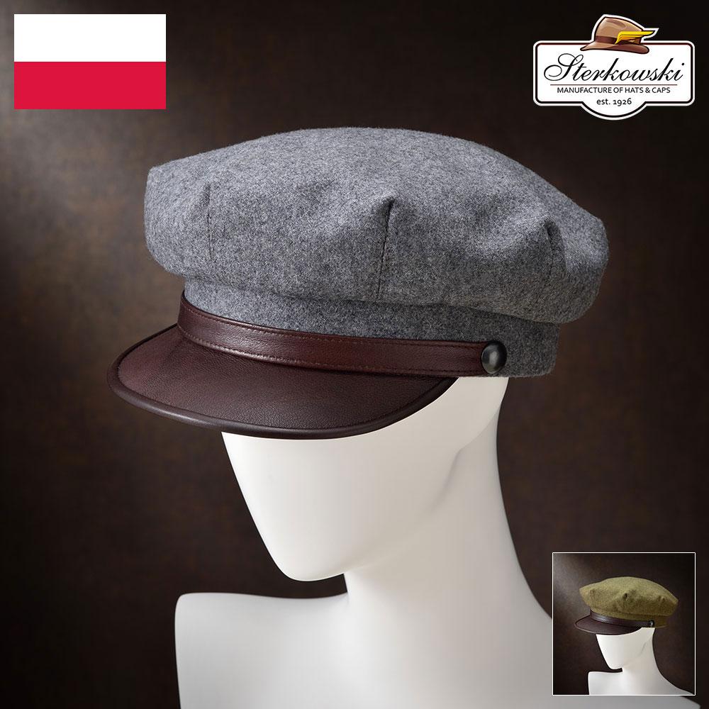 【キャスケット(ハンチング)/Sterkowski(ステルコフスキー)】Valhalla(ヴァルハラ)≪高品質な本革にこだわったポーランド製のマリナーキャップ(レザーキャップ)メンズ/レディース/紳士/帽子/ハット/大きいサイズ/ギフト/あす楽≫