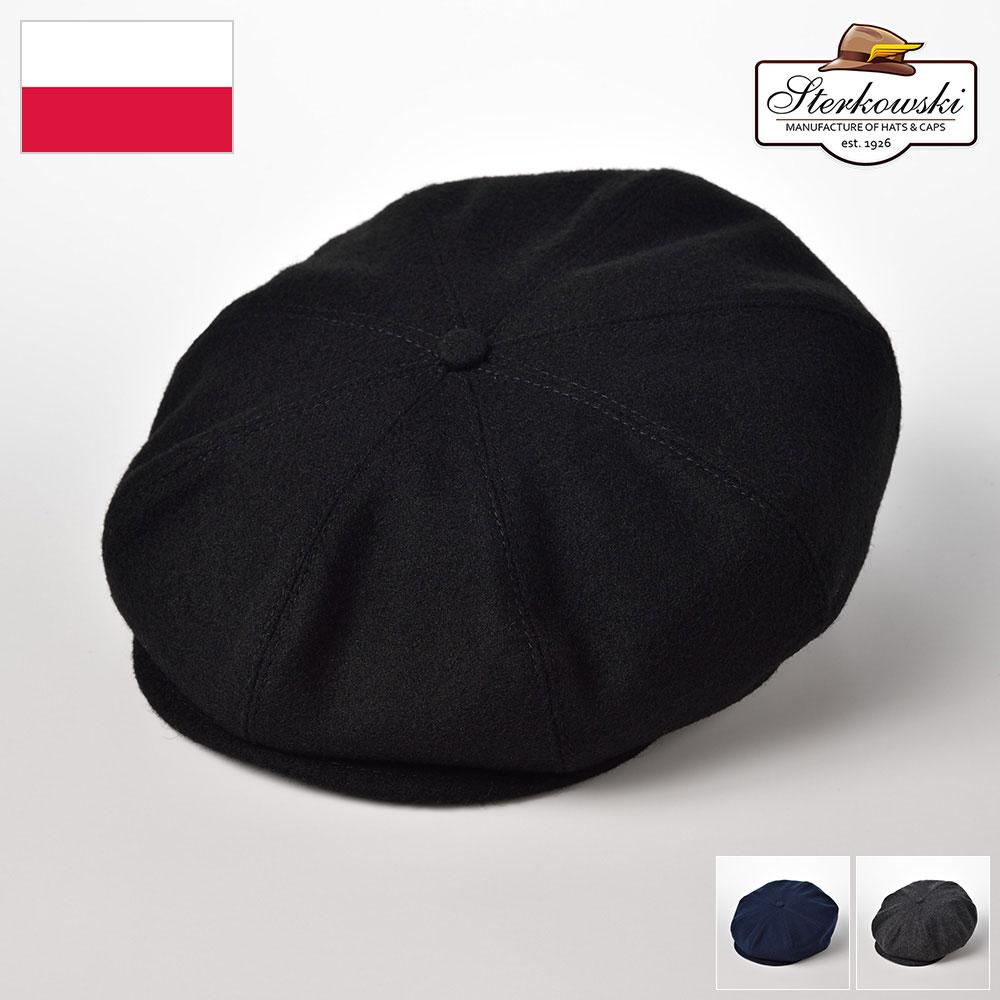 ステルコフスキー ニュースボーイキャップ 男性 女性 兼用 ブランド帽子 前方にボリュームのあるフォルムが印象的 あったかウールに革スベリを備えた クラシカルなキャスケット キャスケット 秋冬帽子 ポーランド製 メンズ 18%OFF レディース ウール100% クラシカル 新作からSALEアイテム等お得な商品 満載 Sterkowski 大きいサイズ ダークグレー 紳士帽 60 56 ブルー あす楽 プレゼント 62 ブラック 送料無料 ギフト ピーキーブラインダーズ ウール 58