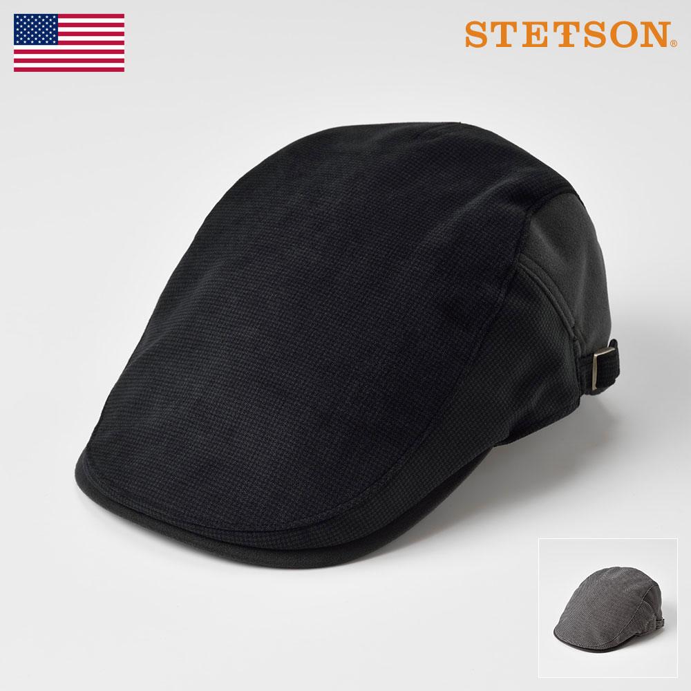 STETSON ステットソン ハンチング メンズ レディース ハンチング帽 キャスケット キャップ スエード 帽子 紳士 大きいサイズ 秋 冬 ブラック グレー M L LL [サイドフリーハンチングスエードSE484] メンズ帽子 あす楽 送料無料