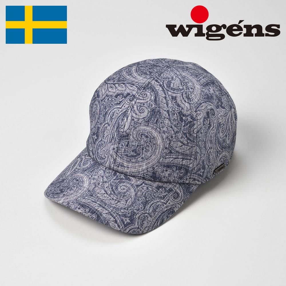 キャップ CAP メンズ レディース 春夏 帽子 ペイズリー柄 大きいサイズ ブルー 56cm 58cm 60cm 62cm Wigens(ヴィゲーンズ)[ベースボールキャップ W120400]送料無料 父の日 あす楽