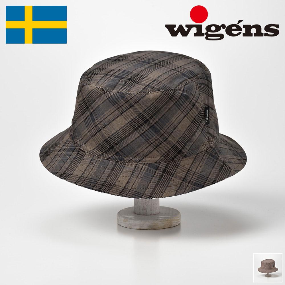 サファリハット バケットハット メンズ レディース 春夏 帽子 チェック 大きいサイズ カーキ ブラウン 56cm 58cm 60cm 62cm Wigens(ヴィゲーンズ)[バケットハット W140284] 送料無料 50 60 70代 父の日 あす楽