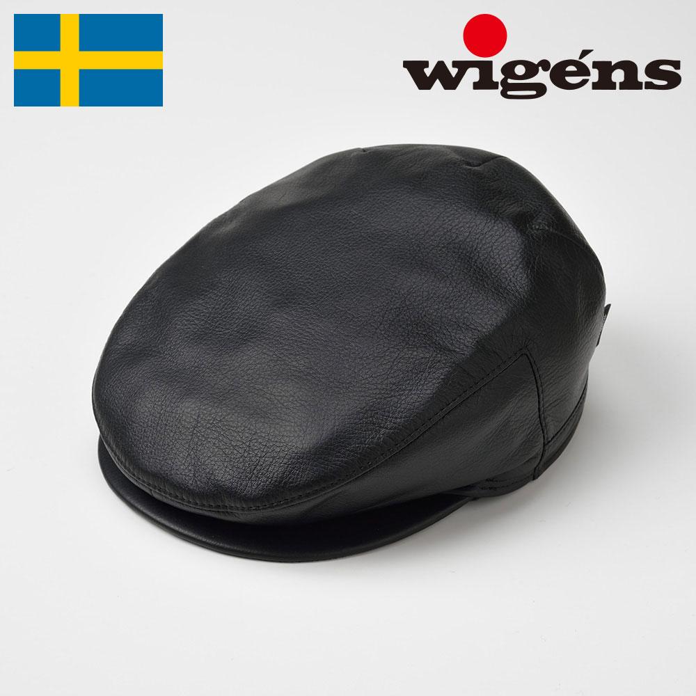 本革 レザーハンチング メンズ レディース ハンチング帽 キャスケット 耳当て付き 帽子 紳士 大きいサイズ 秋冬 ブラック 56~63cm ヴィーゲン [アイビーヴィンテージキャップW110015] メンズ帽子 ギフト あす楽 送料無料