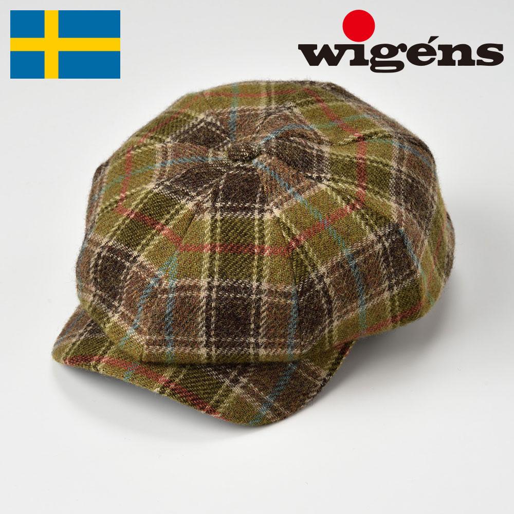 メンズ ニュースボーイキャップ キャスケット キャスケット帽 帽子 ハンチング 大きいサイズ レディース 秋冬 グリーン 56~62cm Wigens ヴィゲーンズ [ニュースボーイクラシックキャップW101324] メンズ帽子 あす楽 送料無料