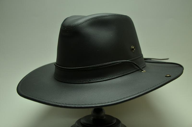 505d65ed5f4a7 Made In U.S.A western hat HENSCHEL Henshel genuine leather cowboy hat black  0334-14
