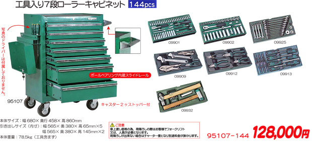 SATA(サタ) 工具セット ツールセット 144ピース ★95107-144