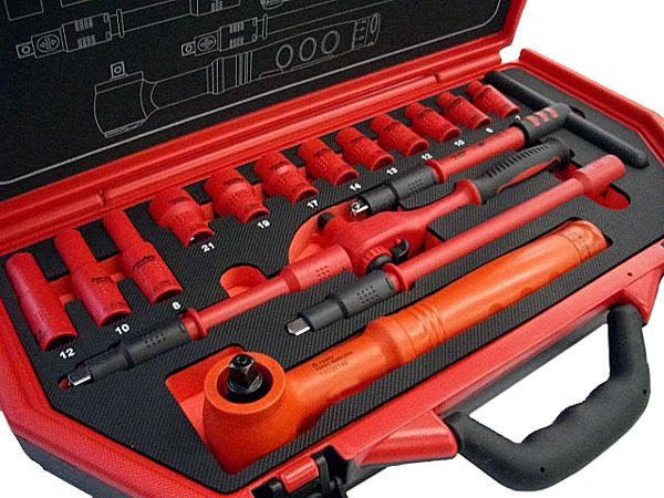 Pro-Auto(プロオート) 絶縁工具セット17ピース ★トルクレンチ付き ★P-E317F