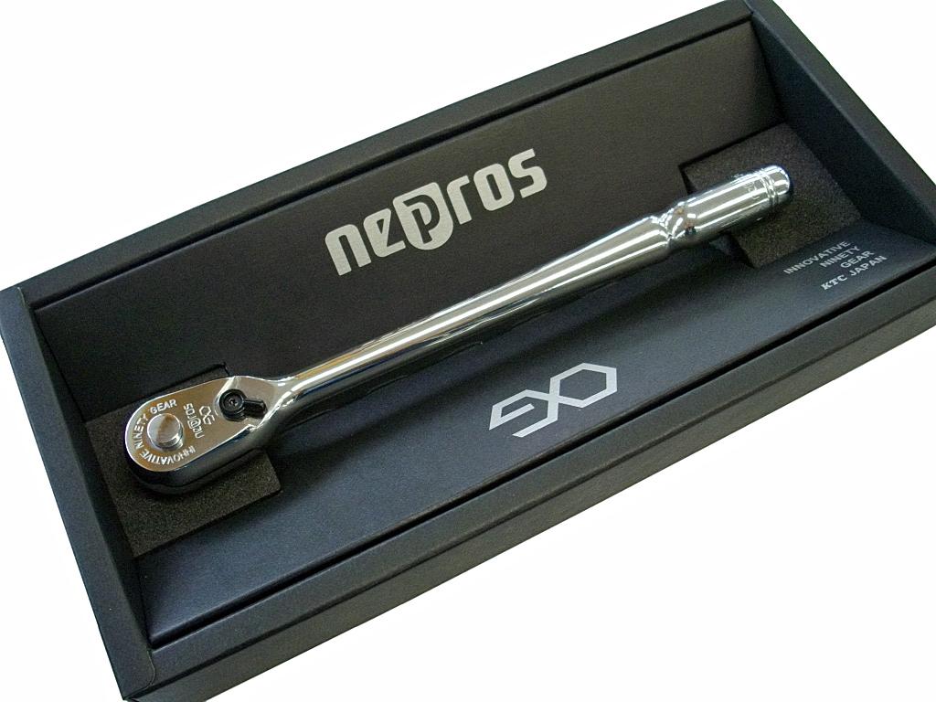 nepros(ネプロス) 9.5Sqコンパクトロングラチェットハンドル ★90ギア ★NBRC390L