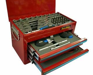 Pro-Auto(プロオート) ミニチェスト 工具セット 1/4DRツールセット51ピース(レッド) ★MC-0251RD
