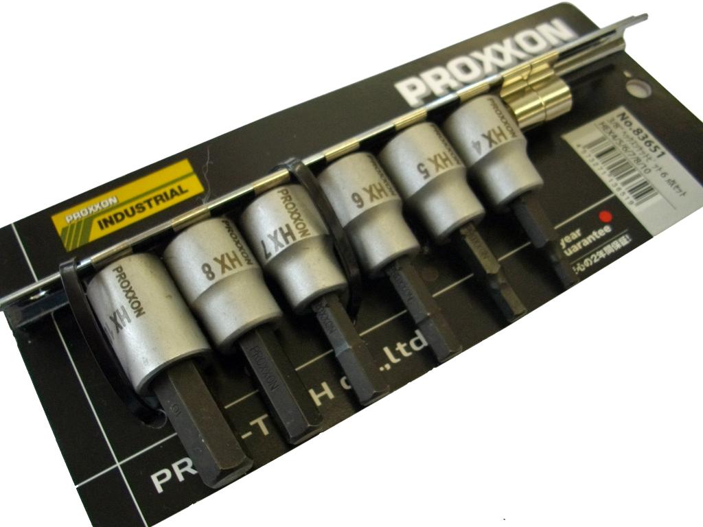 40%OFFの激安セール PROXXON 売買 プロクソン 3 ヘックスビットソケットセット6ピース 8Sq 83651