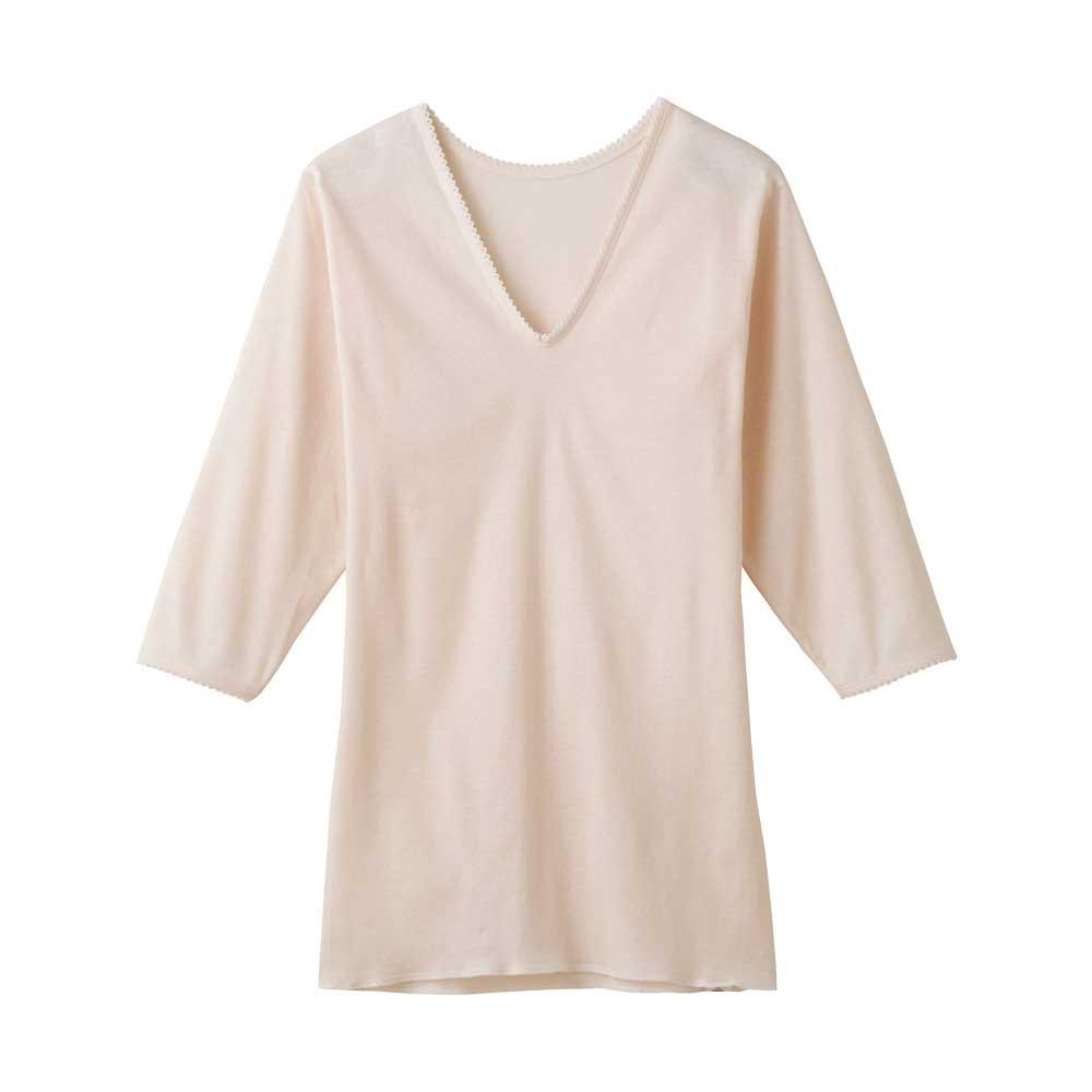 安心の着心地 良質綿100% グンゼ GUNZE ディスカウント 快適工房V型七分袖スリーマー KH5046 カームベージュ 期間限定特別価格 婦人 3L