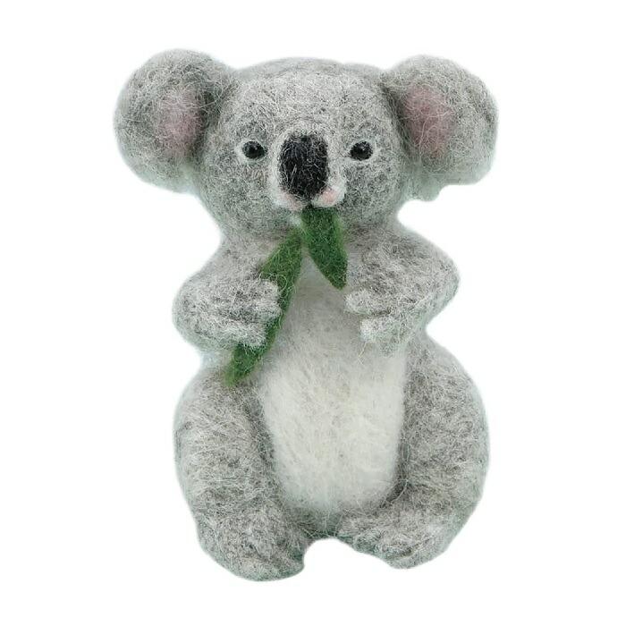 フェルト羊毛でつくるほのぼのした表情に癒される動物のキットです 全商品オープニング価格 出荷 手芸 手作り 羊毛フェルト キット ハマナカ H441-570 フェルト羊毛でつくるほのぼの動物 コアラ