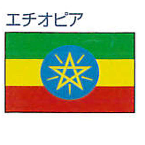 【ママ割エントリーでポイント5倍】エクスラン外国旗 90×135 エチオピア(小) アクリル100% [送料無料] 旗 フラッグ FLAG 迎賓 式典