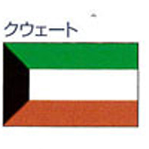 エクスラン外国旗 90×135 クウェート(小) アクリル100% [送料無料] 旗 フラッグ FLAG 迎賓 式典