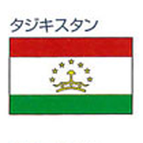 エクスラン外国旗 90×135 タジキスタン(小) アクリル100% [送料無料] 旗 フラッグ FLAG 迎賓 式典