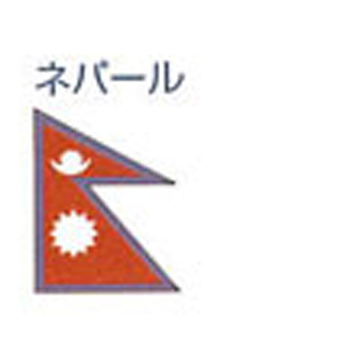エクスラン外国旗 90×135 ネパール(小) アクリル100% [送料無料] 旗 フラッグ FLAG 迎賓 式典
