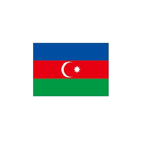 オーダー 外国旗 アゼルバイジャン H120×W180cm テトロンポンジ製 Azerbaijan 旗 フラッグ FLAG [送料無料]NB 160か国対応