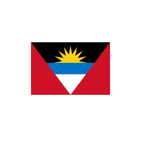 オーダー 外国旗 アンティグア・バーブーダ H120×W180cm テトロンポンジ製 Antigua and Barbuda 旗 フラッグ FLAG [送料無料]NB 160か国対応