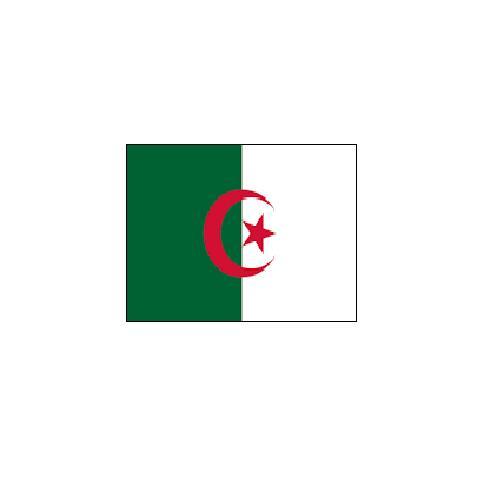オーダー 外国旗 アルジェリア H120×W180cm テトロンポンジ製 Algeria 旗 フラッグ FLAG [送料無料]NB 160か国対応
