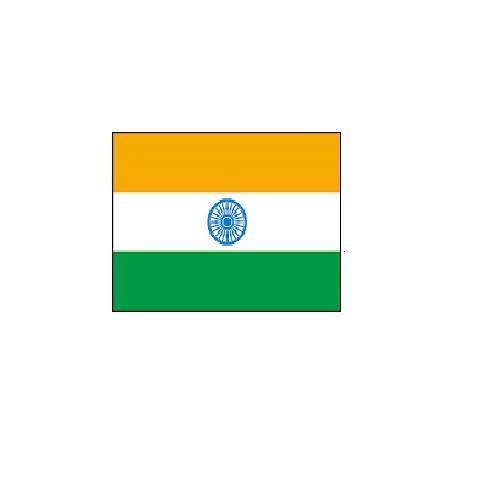 オーダー 外国旗 インド H120×W180cm テトロンポンジ製 India 旗 フラッグ FLAG [送料無料]NB 160か国対応