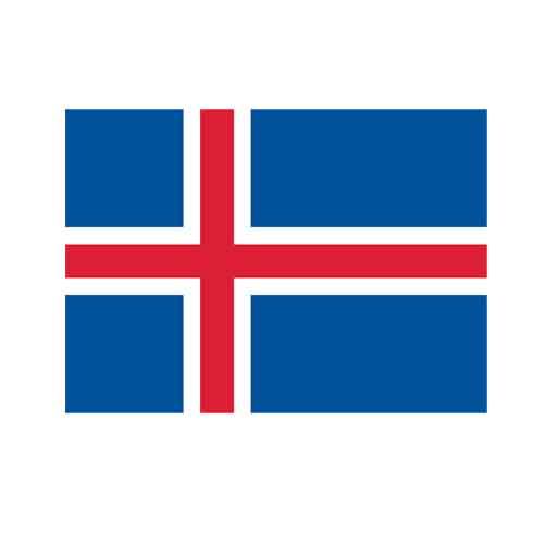 オーダー 外国旗 アイスランド H120×W180cm テトロンポンジ製 Icelandia 旗 フラッグ FLAG [送料無料]NB 160か国対応