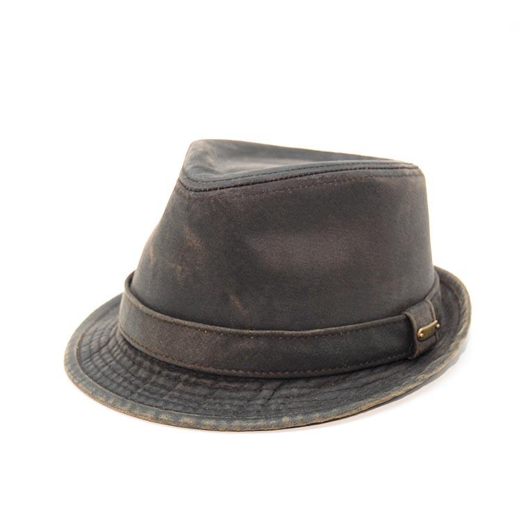 STETSON 中折れハット 大きいサイズ オールシーズン ハット メンズ ユーズド風 ステットソン 帽子 ヴィンテージ風 Distressed Cotton ダメージ加工 カジュアル 中折れ帽 紳士 stetson 帽子 アメリカ ブランド M L XLサイズあり / 茶 ブラウン [ fedora ]