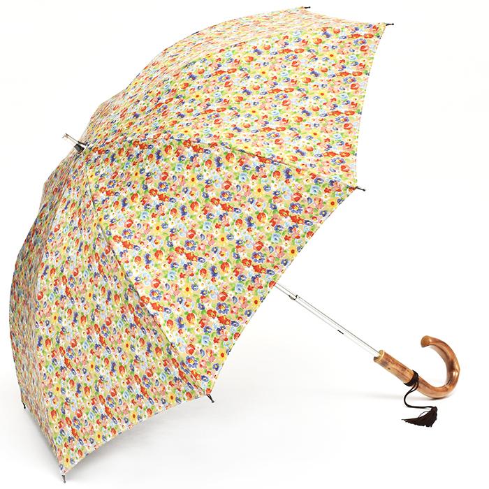 【送料無料】 TOKYO PRINT[小花]イエロー TP-049S 47cm×8本骨 軽量 遮光 日傘(カーボン骨 スライドショート)[HATCHI/b073wwxkht ]傘 レディース 雨傘 日傘 かさ/ 日傘 晴雨兼用 /UV軽減/ 紫外線カット/ 母の日/ギフト あす楽