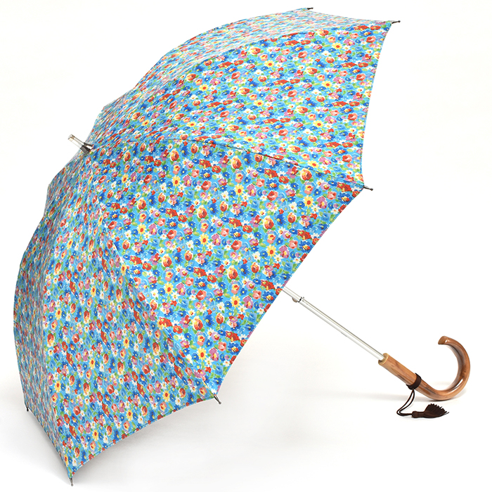 【送料無料】 TOKYO PRINT[小花]ブルー TP-049S 47cm×8本骨 軽量 遮光 日傘(カーボン骨 スライドショート)[HATCHI/b073wwxgdv]傘 レディース UVカット 紫外線対策 UV対策に 日傘 晴雨兼用 花柄 母の日 ギフト バレンタイン あす楽