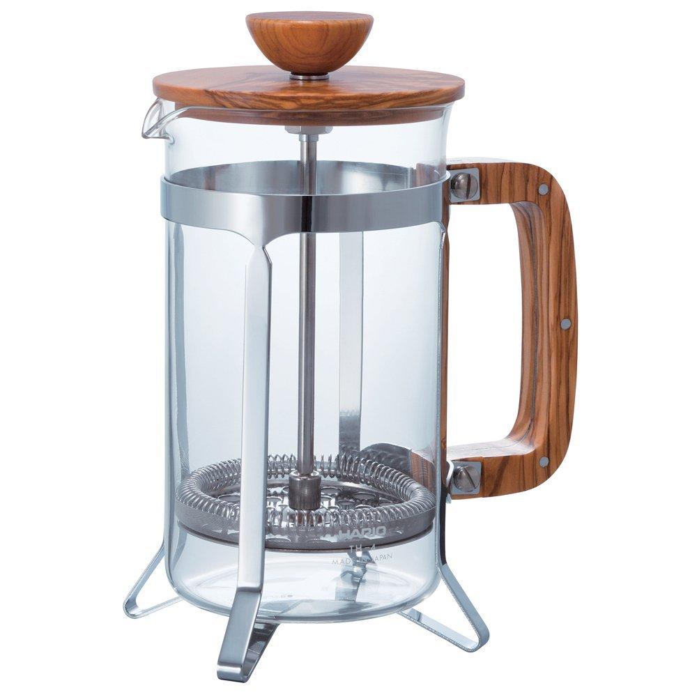 コーヒー カフェプレス・ウッド コーヒー豆 コーヒーメーカー HARIO