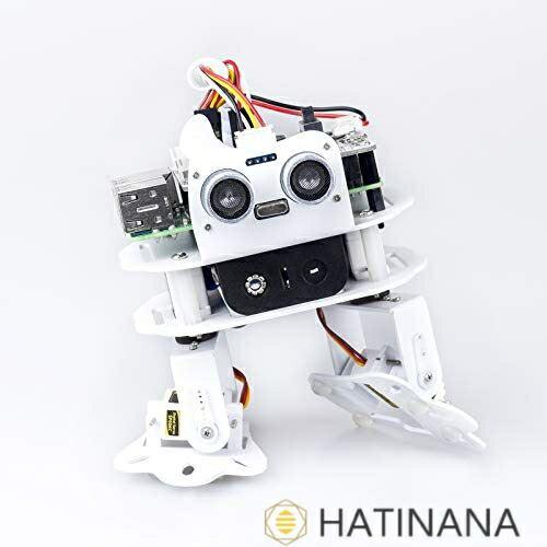 SunFounder PiSloth ラズベリーパイ AI プログラミングロボットキット 多機能DIYバイオニック踊りロボット 好評受付中 スマホ 4B 3B+ タブレットによる遠隔操作 Raspberry Pi ラズベリーパイメインボード 3Bに適用 定番