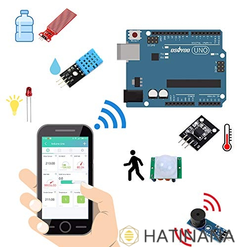 OSOYOO Arduino お買い得品 IoT スターター キット 物 物体に通信機能を持たせ モノのインターネット Kit 制御 自動認識 開発電子部品キット 遠隔計測 業界No.1