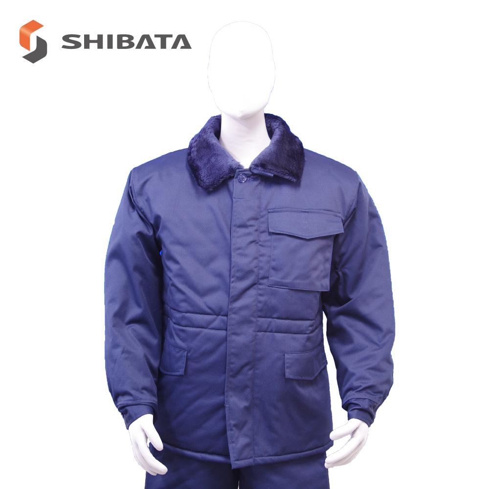 防寒服 コート(紺) 防寒 作業服 工場 冷凍倉庫 冷蔵庫 撥水 作業用 日本製
