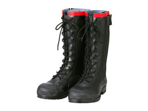 AE030 安全編上長靴導電タイプ メンズ 安全長靴 安全靴 ゴム長靴 作業長靴 長靴 作業用 作業用長靴 踏み抜き防止板 編み上げ 日本製 静電気帯電防止長靴