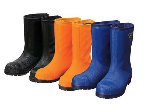 NR021(ネイビー)NR031(オレンジ)NR041(ブラック) 冷蔵庫長-40℃ メンズ レディース ゴム長靴 長靴 作業長靴 倉庫作業 倉庫 保温 防臭 抗菌 防寒 耐滑 日本製