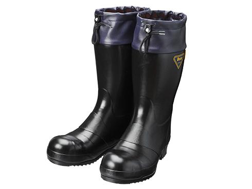 AE021 セーフティベアー#8000静電防寒(ブラック) メンズ 安全長靴 安全靴 ゴム長靴 作業長靴 静電長靴 長靴 フード付 保温 吸湿 防寒 耐油 日本製