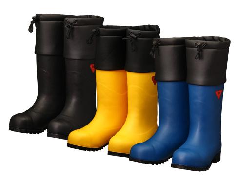 AC051(ネイビー) AC091(イエロー) AC111(ブラック) セーフティベアー#1001 白熊 メンズ レディース 安全長靴 安全靴 ゴム長靴 作業長靴 長靴 フード付 保温 防臭 抗菌 防寒 耐滑 除雪 排雪 日本製