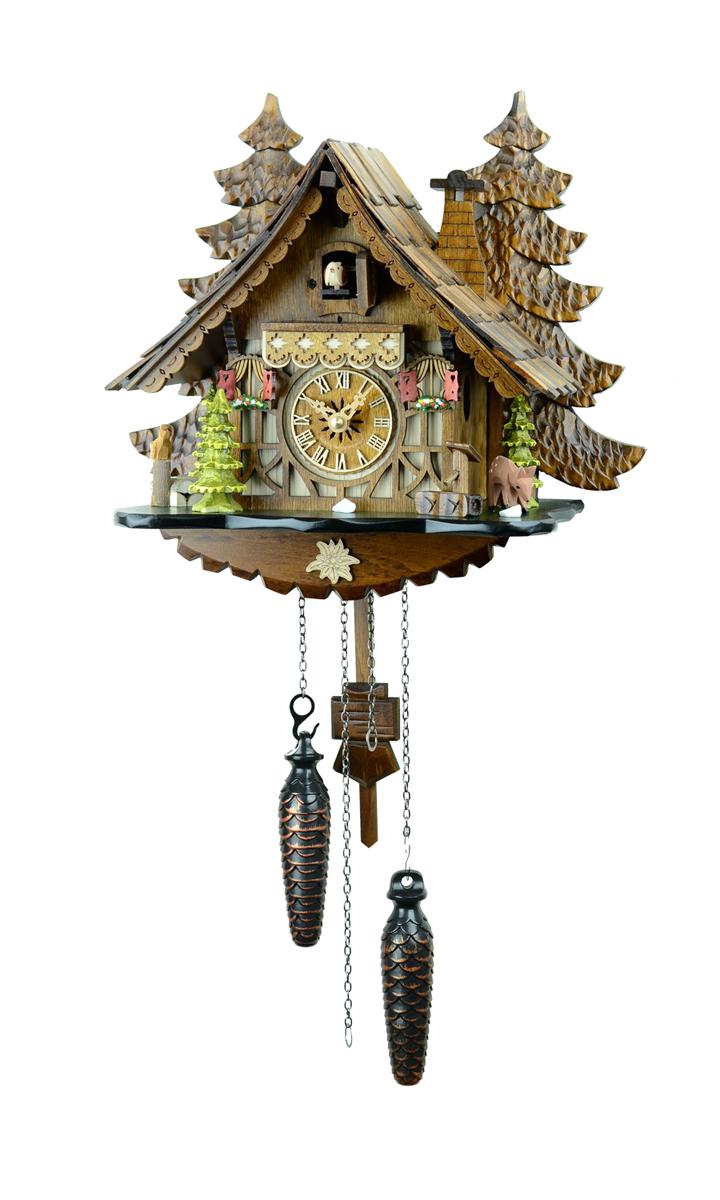 鳩時計 壁掛け時計 ハト時計 はと時計 ポッポ時計 クォーツ式 森の時計 409QM バンビの山小屋