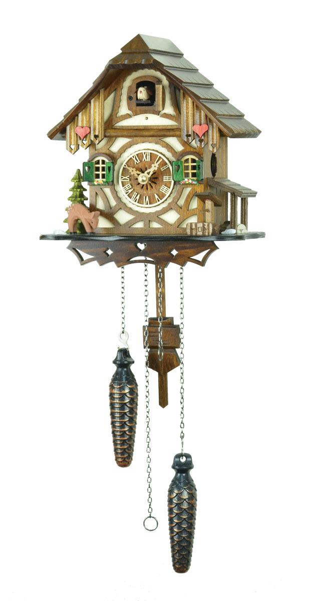 鳩時計 壁掛け時計 ハト時計 はと時計 ポッポ時計 クォーツ式 バンビの山小屋鳩時計 413QM10P09Jul16