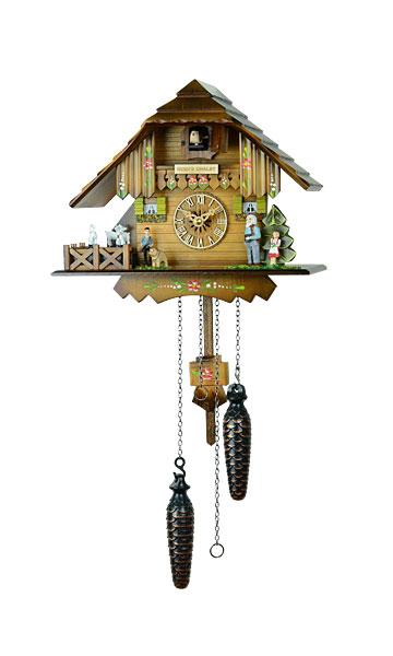 鳩時計 壁掛け時計 ハト時計 はと時計 ポッポ時計 クォーツ式 ハイジハウス 4233QMT