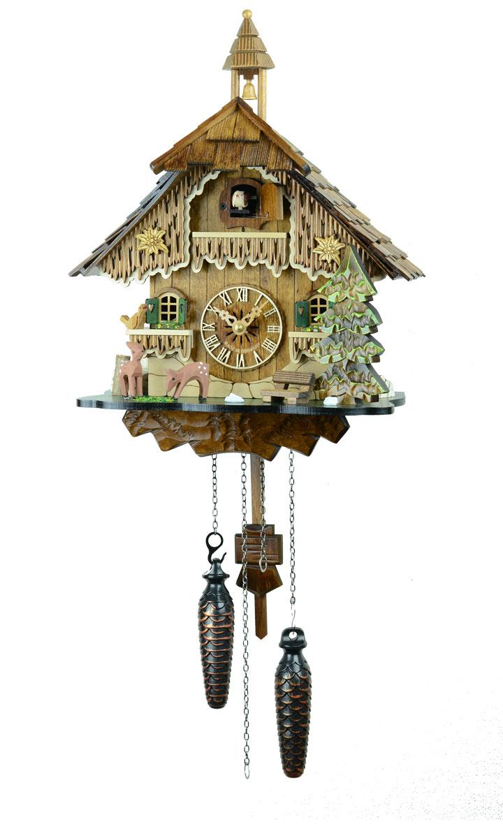 鳩時計 壁掛け時計 ハト時計 はと時計 ポッポ時計 バンビの山小屋 431QM 10P09Jul16