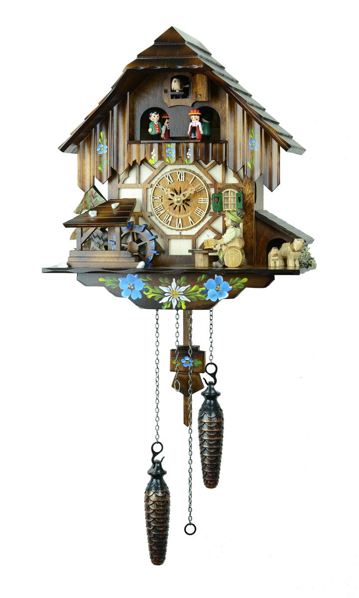 鳩時計 壁掛け時計 ハト時計 はと時計 ポッポ時計 クォーツ式 森の時計 464QMT木こりの休憩